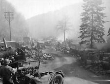 WW2 Photo WWII  Destroyed German Vehicles Highway of Death  World War Two / 4166