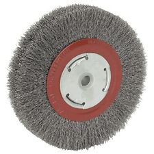"6"" INCH ROUND WIREWHEEL STEEL WIRE BRUSH WHEEL FOR BENCH GRINDER"