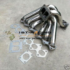 for Toyota Supra 93-98 2JZ-GTE Twin Turbo Divided Flange Turbo Manifold Header