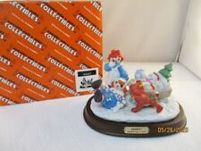 "Raggedy Ann And Andy ""Oops"" Flambro Sledding Figurine"