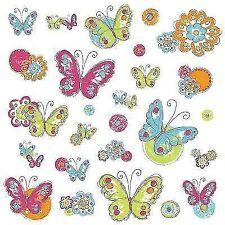 Room Mates - Wandsticker Brushwork Schmetterlinge