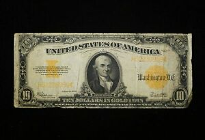 1922 $10 Gold Certificate - Free Shipping USA