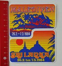 Aufkleber/Sticker: Malediven - Sri Lanka 1984 (220217120)