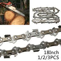 18/45cm Chainsaw Saw Chain Blade 3/8 LP 0.050 Gauge 62DL Driver Link Universal