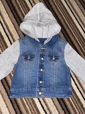 Boys Denim & Jersey Jacket 2-3 Years