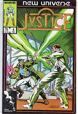 Marvel Comics Justice #4 February 1987 New Universe F+