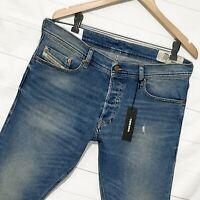 ⭐ mens Diesel Tepphar 089AW Slim-carrot stretch faded denim jeans size W34 L32