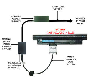 External Laptop Battery Charger for Dell Inspiron 3421 3521 3721 5521 5721 XCMRD