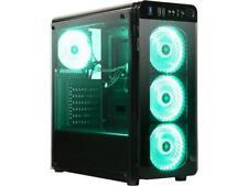 DIYPC VisionII-BG  Black USB3.0 Steel / Tempered Glass ATX Mid Tower Gaming Comp