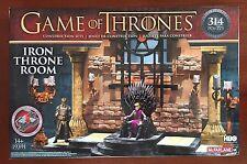 Game of Thrones IRON Throne Room 314 PCS Construction Set HBO Series NIB