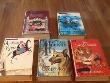 Lot of 5 Vintage Split Companion Library Books HC, 2 Stories for each Book