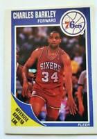 "Charles Barkley Fleer 1989 ""offensive Bound Leader"" NBA Trading Card #113 76ers"