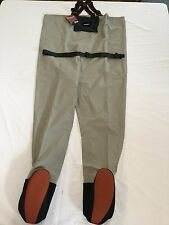 "NEW 2013 SIMMS BLACKFOOT STOCKINGFOOT WADERS SIZE 2XL ""RETAIL $199.95"""