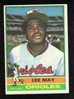 """1976 Topps #210 Lee May Baltimore Orioles Baseball Card """"mrp-collectibles"""" EX+"""