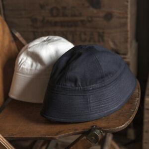 Bronson Vintage WW2 US Navy Dixie Cup Hat Bucket Hat Sailor Uniform Cap Outdoor