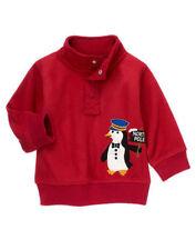 NWT GYMBOREE NORTH POLE EXPRESS Pullover Fleece Top Jacket 1//4 button Shirt