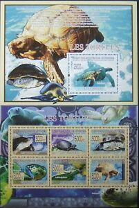 R.GUINEE-Tortoises-1 M/Sh.+1S/Sh.-2009 MNH**,RG 60