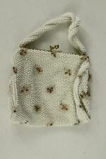 VINTAGE 1960 Plastic Floral Beaded Evening Handbag Clutch Purse Corder Bead