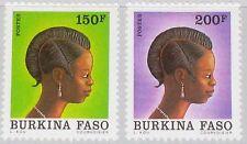BURKINA FASO 1991 1250-51 916 920 Traditional Hair Cuts Frisur Definitives MNH