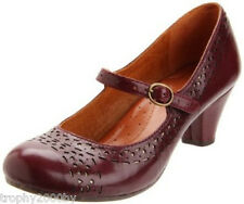 NEW ANTHROPOLOGIE BORDO CASTALIA SHOES HEELS BY NAYA SZ 7.5