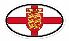 "England Flag Coat of Arms Flag Oval car window bumper sticker decal 5"" x 3"""