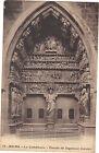 51 - cpa - La cathédrale de REIMS - Le porche du jugement dernier