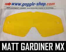 Goggle-shop Lente De Repuesto Para Fox Main Motocross Mx Goggles Amarillo tinte Pro