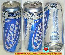 24oz 2008 TAMPA BAY LIGHTNING NHL ICE HOCKEY BUD LIGHT SPORT BEER CAN FLORIDA FL