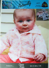 SALE - SAVE 30%  CUTE CARDIGAN for PREEMIES TO 18 MOS by NATURALLY NZ YARNS