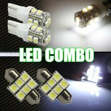 SMD LED License+Map+Dome Light Bulbs Combo 6000K White 6PCS Interior Package