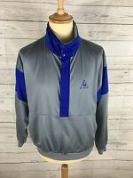 Mens Le Coq Sportif Track Top - Medium - Silver - Pull Over - Great Condition