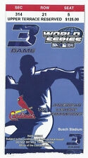 2004 World Series Ticket Stub Game 3 Red Sox @ Cardinals