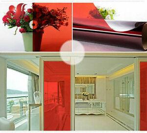 A4 Selfadhesiv Color Decor Window Glass Sticker Film Solar Tint Window Vinyl DIY