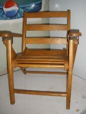 Vintage Wooden Folding Chair Child's Size