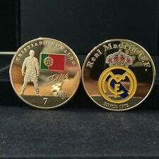Cristiano Ronaldo Football Super Stars 24K Gold Plated 2/Sided Souvenir Coin