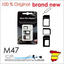 Conjunto de Adaptador Convertidor De Sim Tarjeta Nano SIM a Micro Estándar