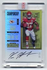 KAREEM HUNT 2017 Contenders Championship Ticket RC AUTO #'d/ 25 PANINI SEALED