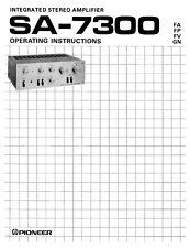Pioneer SA-7300 Amplifier Owners Manual