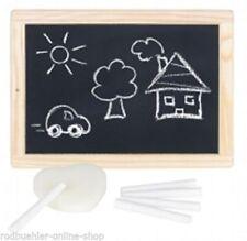 Schiefertafel Schreibtafel Tafel mit Kreide und Schwamm Holz Schultafel Goki