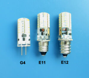 G4/E11/E12 Candelabra LED bulb 2W 48LED 3014SMD AC/DC 12V Silicone Light Lamp #1