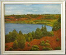 O. Friis  » Sommerliche Seenlandschaft « 89x75 cm