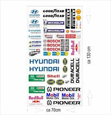 hyundai Logo Autoaufkleber Sponsoren Marken Aufkleber Decals Tuning Sticker Set