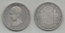 SPAGNA - Alfonso XIII - 5 Pesetas 1891 argento