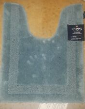 "Chaps Richmond Teal Blue Plush Pile Contour Throw Rug Skid Resistant 19""x24"""