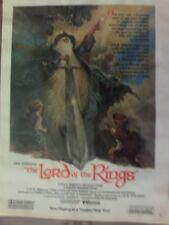 "Vintage 1979 Lord Of The Rings Animated Movie 8 1/2"" X 11"" Original Laminated"