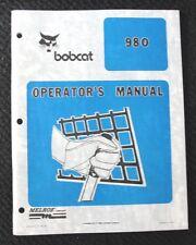 ORIGINAL BOBCAT 980 SKID STEER LOADER TRACTOR OPERATORS MANUAL VERY CLEAN