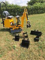 AX24 Micro Mini Digger 360 Excavator Briggs & Stratton Engine UK Built £5495+VAT