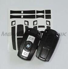 1B_Schlüssel-Dekor Aufkleber BMW 1er 3er 5er 6er Z4 X1 X5 schwarz alu gebürstet
