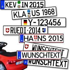 Wunsch-Kennzeichen für Kinderfahrzeuge Rutscher von Audi VW Mercedes und Andere