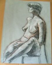 FEMALE NUDE  by Ruth Freeman PASTEL 16 1/4   X  22 1/2